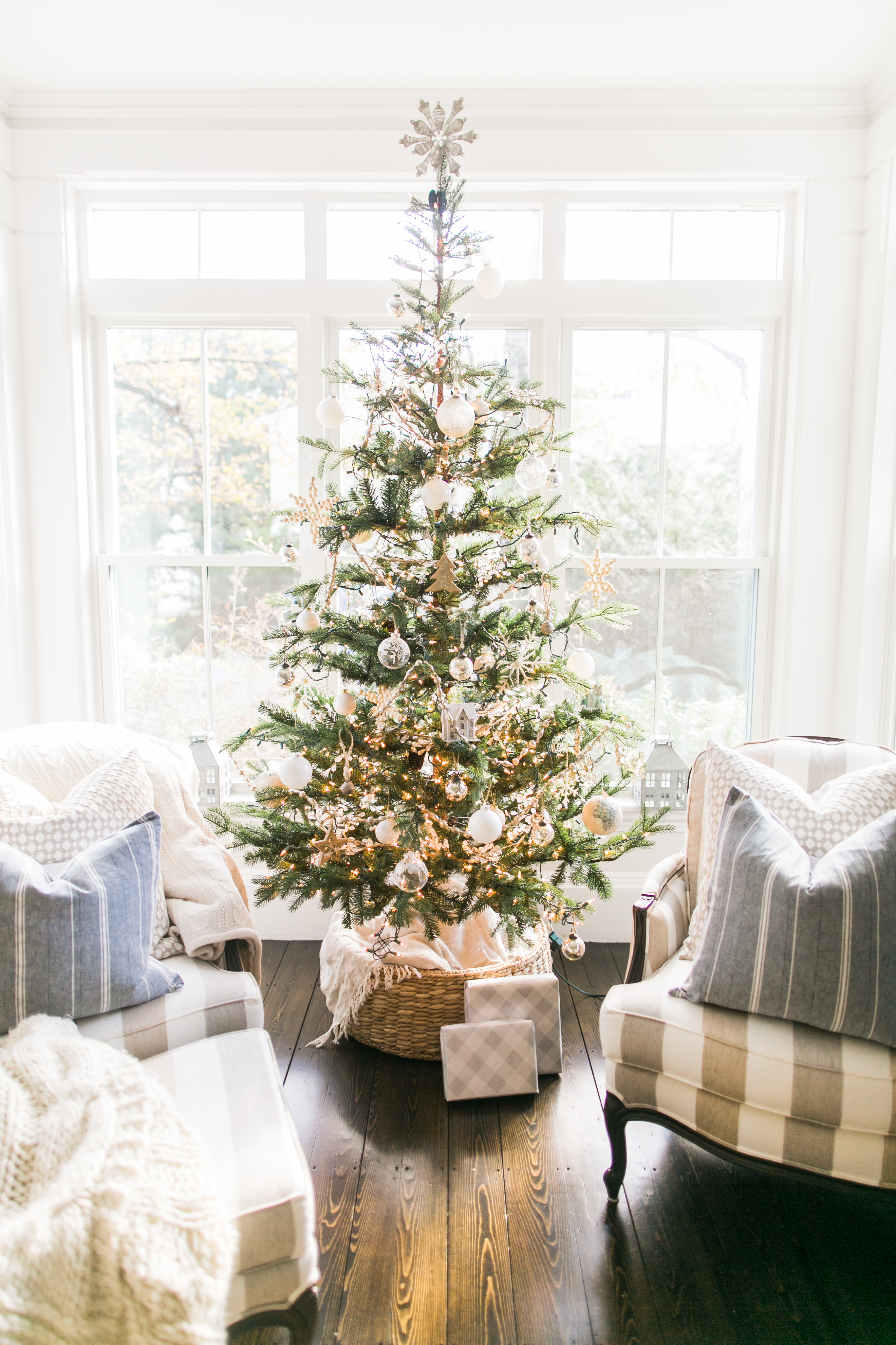 Lovely Whites And Blues Christmas Home Tour Finding Lovely